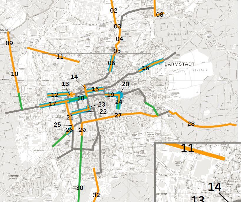 Karte Maßnahmen