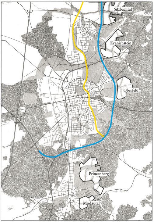 Lageplan Waldsatelliten